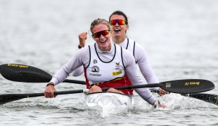 2020 ICF Canoe Sprint World Cup Szeged Hungary Hermien PETERS - Lize BROEKX