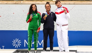 2020 ICF Paracanoe World Cup Szeged Hungary KL3 Women 200m Ceremony