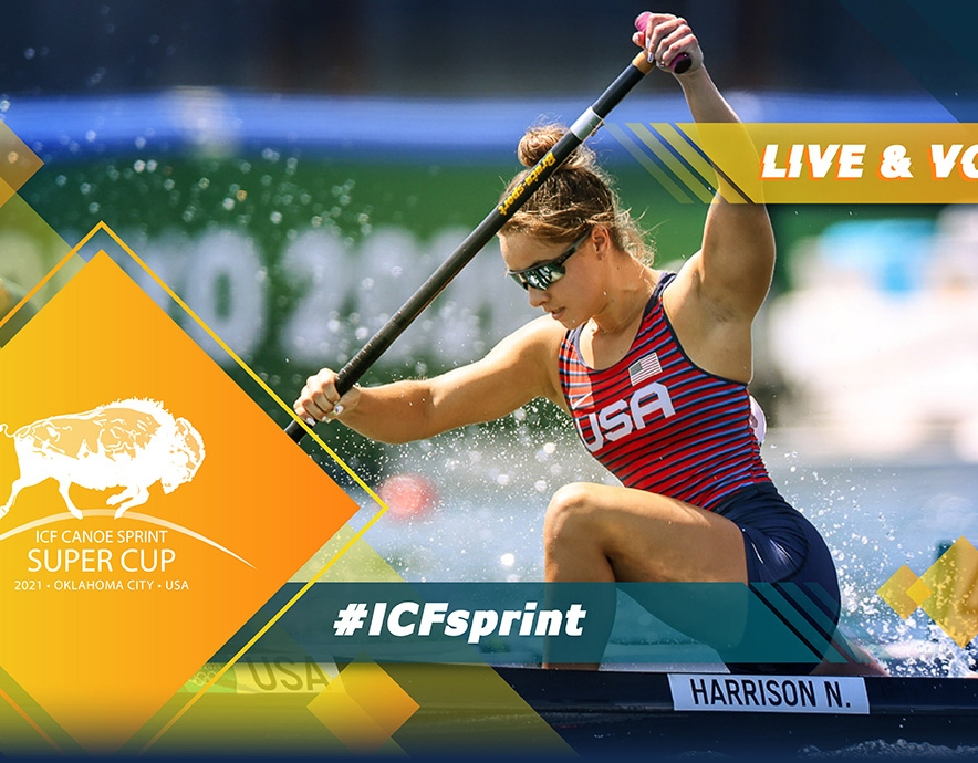 2021 ICF Canoe Kayak Sprint Super Cup Oklahoma United States of America USA Nevin Harrison Live TV Coverage Video Streaming