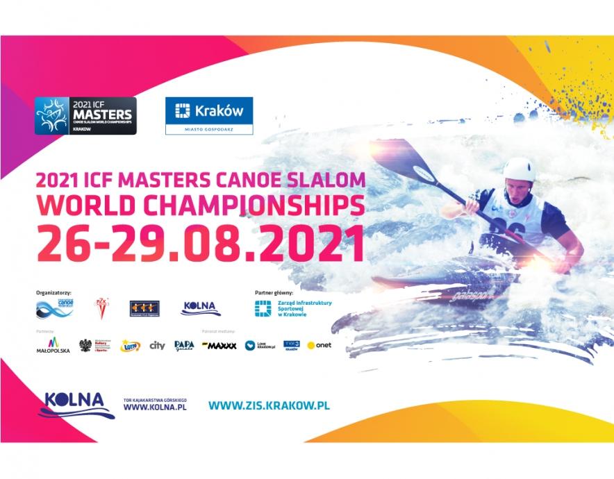 2021 ICF Masters Canoe Slalom World Championships - Krakow POL - poster