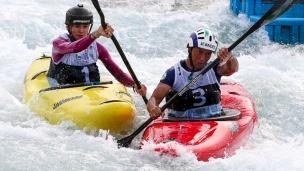 2018 ICF Canoe Extreme Slalom World Championships Rio Brazil Ana Satila BRA - Martina Wegman NED