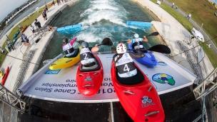 2018 ICF Canoe Extreme Slalom World Championships Rio Brazil Extreme Slalom start
