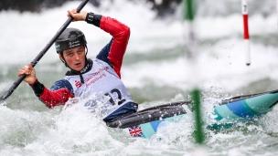 2018 ICF Canoe Slalom World Cup 3 Augsburg Germany Mallory Franklin GBR