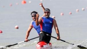 2018 ICF Canoe Sprint World Cup 1 Szeged Hungary S Madrigal - F Enriquez CUB