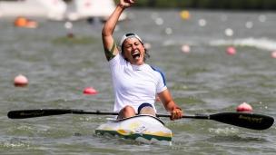 2018 ICF Canoe Sprint World Cup 1 Szeged Hungary Shakhnoza Mirzaeva UZB