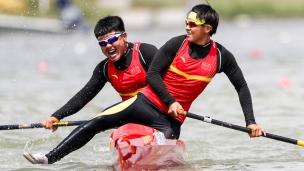 2018 ICF Canoe Sprint World Cup 1 Szeged Hungary W Lin - L Zhang CHN