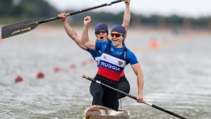 2021 ICF Canoe Sprint World Cup Szeged Irina ANDREEVA, Olesia ROMASENKO