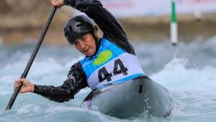 2019 ICF Canoe Slalom World Cup 1 London Jane NICHOLAS Cook Islands