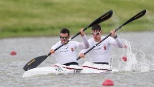 2021 Canoe Sprint European Olympic Qualifier Kornel BEKE, Adam VARGA