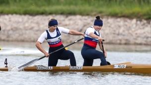 2021 ICF Canoe Sprint World Cup Szeged Kseniia KURACH, Anna KNIAZEVA