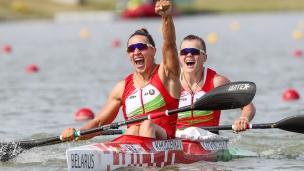 2019 ICF Canoe Sprint World Championships Szeged Hungary Maryna LITVINCHUK, Volha KHUDZENKA