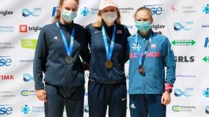 2021 ICF Canoe Slalom Junior & U23 World Championships Ljubjlana U23 C1 Womens Medallists