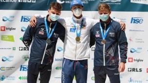 2021 ICF Canoe Slalom Junior & U23 World Championships Ljubjlana U23 K1 Mens Medallists