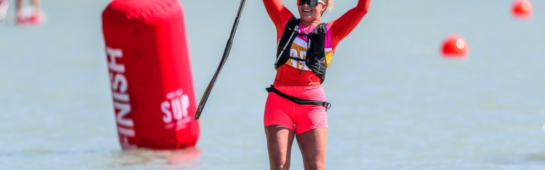 USA Fiona Wylde SUP world championships Balaton 2021