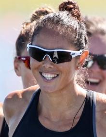 Jaimee Lovett (NZL)  is hanging up her paddle