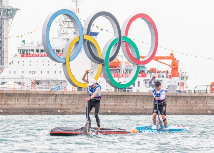 Stand up paddling world championships Qingdao 2019 SUP Hasulto Booth
