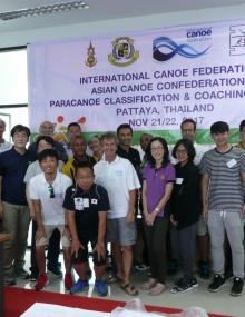 Paracanoe classification training Asia Bangkok Thailand