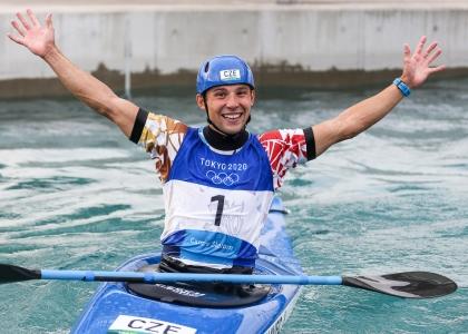Czech Republic Jiri Prskavec kayak gold Tokyo Olympics