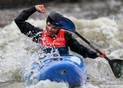 Czech Veronika Vojtova extreme slalom 2019 Prague
