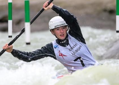 USA Evy Leibfarth canoe slalom world cup Tacen 2020