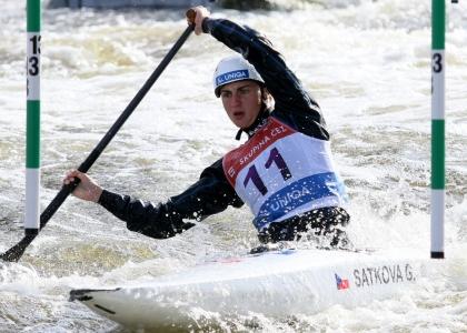 Czech Gabriela Satkova European C1 champion Prague 2020