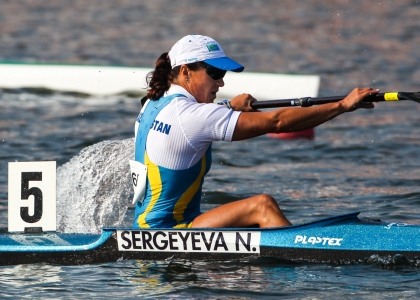 Kazakhstan Natalya Sergeyeva canoe sprint K1