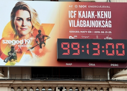 Szeged countdown clock 2019 world championships