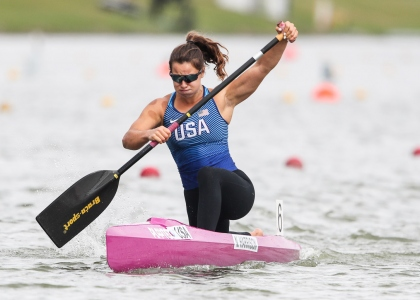 USA Nevin Harrison C1 200 canoe sprint Szeged 2020