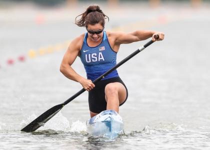 USA Nevin Harrison C1 200 canoe sprint Szeged 2021