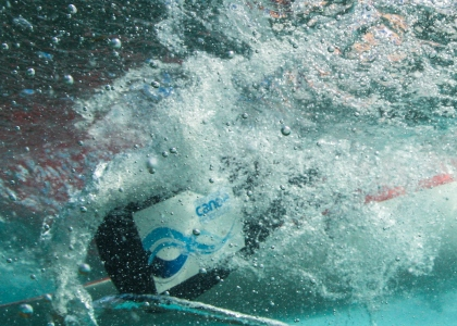 Canoe underwater