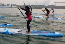 Egypt Jomana Ismail Attia stand up paddling Qingdao 2019