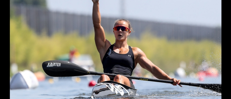 New Zealand Lisa Carrington K1 200 gold Montemor 2018