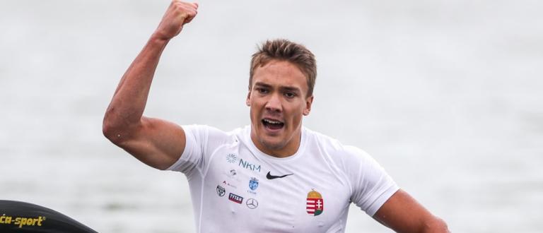 Hungary Balint Kopasz K1 500 Szeged canoe sprint world cup 2020