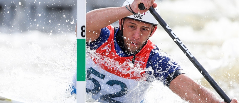 2019 ICF Canoe Slalom World Cup 5 Prague Christos TSAKMAKIS