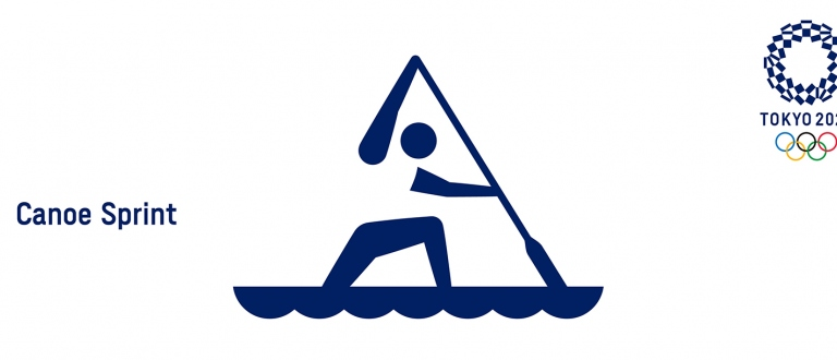 Tokyo 2020 Olympics Canoe Sprint Pictogram
