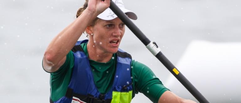 South Africa Michelle Burn canoe ocean racing