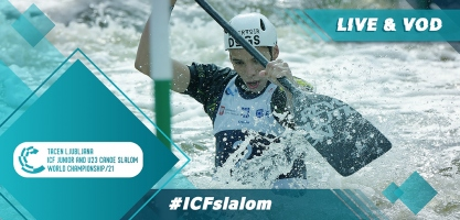 2021 ICF Canoe Kayak Slalom Junior & U23 World Championships Tacen Ljubljana Slovenia Live TV Coverage Video Streaming