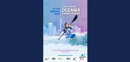 2020 Oceania Championships Canoe Slalom promotional poster