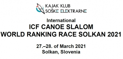 Promotional image 2021 ICF Canoe Slalom World Ranking Race Solkan Slovenia