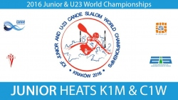 REPLAY K1M, C1W Junior Heats - 2016 Junior & U23 World Champ