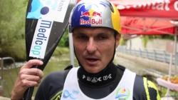 Peter Kauzer K1 winner #ICFslalom 2017 Canoe World Cup Final La Seu