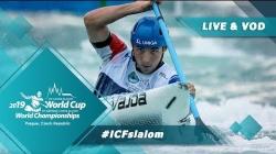 2019 ICF Canoe Slalom World Cup 5 Prague Czech Republic / Heats – C1m, K1w