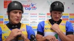 #ICFslalom 2017 Canoe World Cup 1 Prague - C2 Winners Jonas Kaspar and Marek Sindler