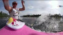 360º on German K4 Men's 500m Heat 3 / 2018 ICF Canoe Sprint World Cup 2 Duisburg