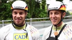 Behling and Becker C2 winners #ICFslalom 2017 Canoe World Cup Final La Seu