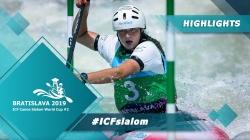 Highlights / 2019 ICF Canoe Slalom World Cup 2 Bratislava Slovakia