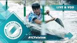 2019 ICF Canoe Slalom World Championships La Seu d'Urgell Spain / Slalom Heats Run 1 – C1m, K1w