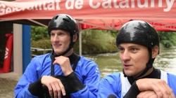 Jonas Kaspar and Marek Sindler after semi-final #ICFslalom 2017 Canoe World Cup Final La Seu