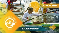 2019 ICF Canoe Marathon World Championships Shaoxing China / U23 K1 men start