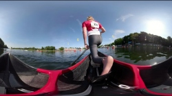 360º on Laurence Vincent-Lapointe's C1 200m Heat  / 2019 ICF Canoe Sprint World Cup 2 Duisburg
